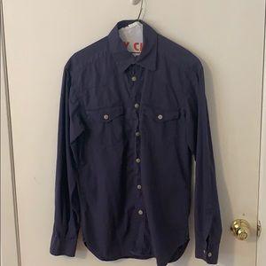 Versace Purple Mens Shirt